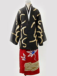 cheap -Inspired by Gintama Cosplay Anime Cosplay Costumes Japanese Cosplay Suits Pattern More Accessories / Costume For Men's / Women's