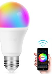 cheap -Smart LED Bulb E27 WiFi Multicolor Light Bulb Compatible with Alexa Echo Google Home A19 80W Equivalent RGB Color Changing Bulb