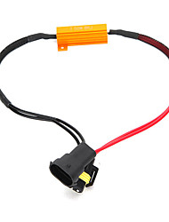 cheap -H8/H11 50W-8Ohm Canbus Error Free Load Resistor Car LED Decoder Warning Canceler 12V