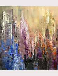 cheap -Oil Painting Hand Painted - Abstract Famous Modern Rolled Canvas