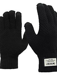 abordables -écran tactile gants tricotés épaississement hiver chaud pour vélo moto vélo ski planche à roulettes hommes