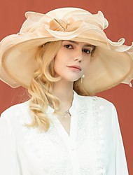 cheap -Organza Kentucky Derby Hat / Hats with Bowknot 1pc Wedding / Party / Evening Headpiece