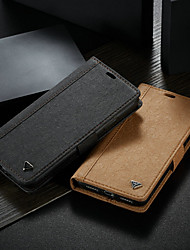 cheap -Case For Apple iPhone XS Max Wallet / Card Holder / with Stand Full Body Cases Solid Colored Hard PU Leather
