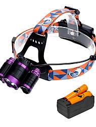 cheap -U'King Headlamps Headlight 3000 lm LED LED 3 Emitters 3 4 Mode with Batteries and Charger Zoomable Adjustable Focus Easy Carrying Camping / Hiking / Caving Everyday Use Cycling / Bike