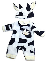 cheap -Doll accessories Reborn Doll Reborn Toddler Doll Cow Baby Boy Baby Girl Cute Kids / Teen Cloth Kids Baby Unisex Toy Gift 2 pcs