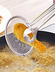cheap -Multi-functional Filter Spoon With Clip Food Kitchen Oil-Frying BBQ Filter Stainless Steel Clamp Strainer