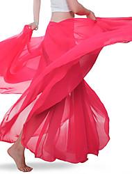 cheap -Belly Dance Bottoms Women's Training / Performance Chiffon Ruching Natural Skirts