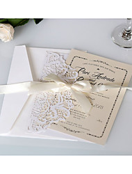 cheap -Side Fold Wedding Invitations 20 - Invitation Cards Artistic Style Pure Paper