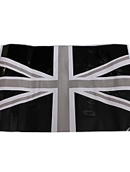 cheap -2Pcs Black Union Jack Flag Vinyl Mirrors Stickers For Mini Cooper