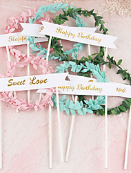 cheap -Cake Topper Classic Theme / Holiday / Wedding Artistic / Retro / Unique Design Pure Paper Wedding / Party with Splicing 1 pcs OPP