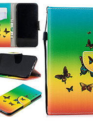 cheap -Case For Apple iPhone XS Max Wallet / Card Holder / Shockproof Full Body Cases Butterfly Hard PU Leather