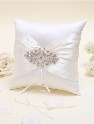 cheap -Silk Like Satin Beading / Satin Bow Satin Ring Pillow Wedding All Seasons
