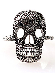 cheap -Men's Open Cuff Ring 1pc Silver Brass Geometric Simple Causal Carnival Jewelry Classic Skull Calaveras