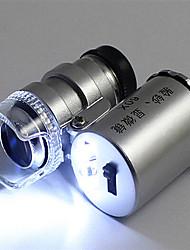 abordables -loupe en verre de loupe de bijoux portable uv lumière pour l'identification de jade de la monnaie