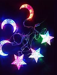 cheap -The Stars The Moon Light String Coloured Luminous 30 Lamp Holder 6 Hangs