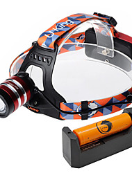 cheap -U'King Headlamps Headlight 1000 lm LED LED 1 Emitters 3 Mode with Battery and Charger Zoomable Adjustable Focus High Power Easy Carrying Camping / Hiking / Caving Everyday Use Cycling / Bike