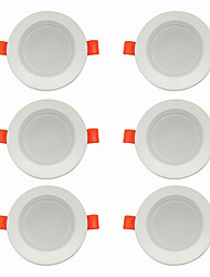cheap -6pcs 5 W 360 lm 10 LED Beads Easy Install Recessed LED Downlights Warm White Cold White 220-240 V Ceiling Home / Office Living Room / Dining Room / CE Certified