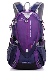 cheap -25 L Hiking Backpack Rucksack Breathable Straps - Multifunctional Waterproof Portable Lightweight Outdoor Camping / Hiking Climbing Cycling / Bike Nylon Black Purple Orange / Yes / Compact