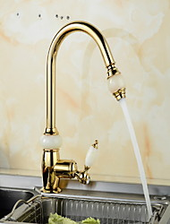 cheap -Kitchen faucet - Single Handle One Hole Electroplated Standard Spout / Tall / High Arc Other Ordinary Kitchen Taps