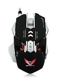 cheap -HXSJ X300GY Wired USB Gaming Mouse / Office Mouse Led Light 5500 dpi 8 Adjustable DPI Levels 8 pcs Keys 8 Programmable Keys