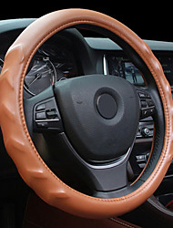 cheap -Massage Texture Leather Steel Ring Wheel Cover for 15 Inches Wheel Size Car