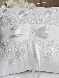cheap -Silk Like Satin Ribbon Bow / Lace Satin Ring Pillow Wedding All Seasons
