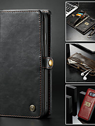 cheap -Case For Samsung Galaxy Note 9 / Note 8 Wallet / Card Holder / with Stand Full Body Cases Solid Colored Hard PU Leather