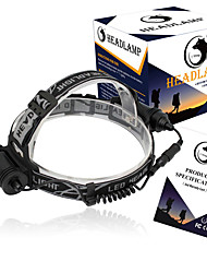 cheap -U'King Headlamps Headlight 1500 lm LED LED Emitters 3 Mode Compact Size Easy Carrying Camping / Hiking / Caving Everyday Use Cycling / Bike