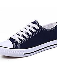 cheap -Women's Canvas Fall & Winter Sneakers Flat Heel Round Toe Black / Red / Blue