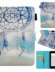 cheap -Case For Amazon Kindle PaperWhite 4 Card Holder / Shockproof / Pattern Full Body Cases Dream Catcher Hard PU Leather