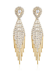 cheap -Women's Drop Earrings Classic Dangling Imitation Diamond Earrings Jewelry Gold / Silver For Wedding Party Evening Party 1 Pair