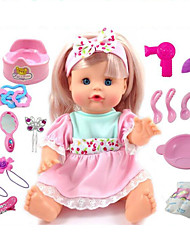 cheap -Girl Doll Fashion Doll Talking Toy Baby Girl 14 inch Silicone - Smart lifelike Kids / Teen Kid's Unisex Toy Gift