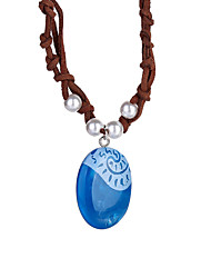 cheap -Pendant Necklace Halloween New Year's Resin For Princess Moana Cosplay Girls' Costume Jewelry Fashion Jewelry / 1 Necklace / 1PC Pendant