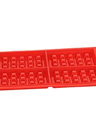 abordables -4 gaufres carrés en silicone moule à cake à la main de cuisson biscuits moule à moufle haute température facile à libérer