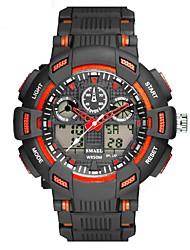 Недорогие -Муж. Спортивные часы электронные часы Кварцевый Стеганная ПУ кожа Черный Защита от влаги Календарь Секундомер Аналого-цифровые На каждый день Мода - Черный / Красный Черный / Белый Черный / Синий