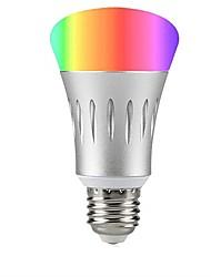 Недорогие -1 шт. 8 Вт e27 rgbw светодиодные лампы с регулируемой яркостью Wi-Fi умный светодиодные лампы алекса ac85-265v