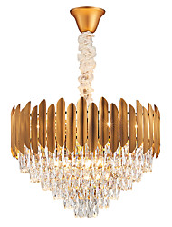 cheap -12 Bulbs QIHengZhaoMing 60 cm Chandelier Crystal Electroplated Traditional / Classic 110-120V / 220-240V