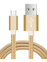 cheap -Micro USB Cable 1m-1.99m / 3ft-6ft Flat / Braided Nylon USB Cable Adapter For Xiaomi