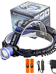 cheap -U'King Headlamps Headlight 2000 lm LED LED Emitters 3 Mode with Batteries and Chargers Zoomable Alarm Adjustable Focus Compact Size High Power Easy Carrying Camping / Hiking / Caving Everyday Use