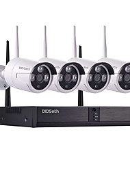 cheap -8CH 1080P NVR and 4pcs 960P 1.3Mp Wireless Video Security System (Wireless NVR Kits) Open air 600m