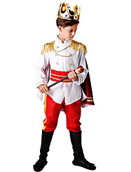 cheap -Prince Charming Party Costume Movie Cosplay White Coat Pants Belt Halloween Carnival Masquerade Elastane / Tiaras