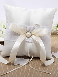 cheap -Silk Like Satin Faux Pearl / Beading / Satin Bow Satin Ring Pillow Wedding All Seasons