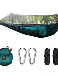 cheap -Camping Hammock with Pop Up Mosquito Net Outdoor Lightweight Quick Dry Breathability Nylon for 1 person Fishing Camping Black Dark Green Army Green / Anti-Mosquito / Anti-Mosquito / Pop Up Design