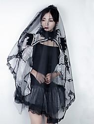 cheap -Black Swan Headpiece Veil Women's Movie Cosplay Gothic Lolita Black Headwear Halloween Carnival Masquerade Tulle