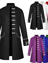 abordables -Docteur de la peste Steampunk Style Gothique Rétro Vintage Punk Col montant Manteau Redingote Homme Costume Noir / Blanche / Violet Vintage Cosplay Soirée Manches Longues