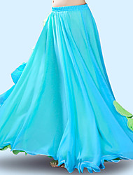 cheap -Belly Dance Bottoms Women's Training / Performance Polyester Ruching Natural Skirts