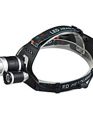 cheap -Headlamps Waterproof Rechargeable 2400 lm LED LED 3 Emitters 4 Mode with Charger Waterproof Rechargeable Impact Resistant Camping / Hiking / Caving Everyday Use Cycling / Bike / Aluminum Alloy
