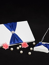 cheap -Guest Book / Pen Set Wedding With Rhinestone / Ribbon Tie Guest Book / Pen Set