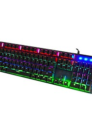 cheap -LITBest Q1 USB Wired Mechanical Keyboard Gaming Keyboard Programmable Luminous Programmable RGB Backlit 104 pcs Keys