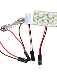 cheap -1pcs T10 BA9S DC12V 5730/5630 24SMD LED Panel Board Car Interior Dome Lights Reading Festoon Lamp
